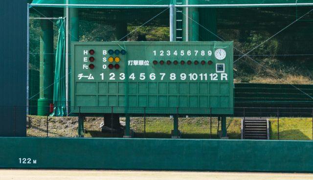 野球のスコアボード