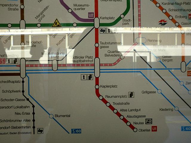 ウィーンの地下鉄路線