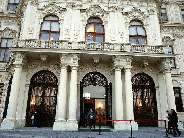 ウィーン ベルヴェデーレ宮殿上宮