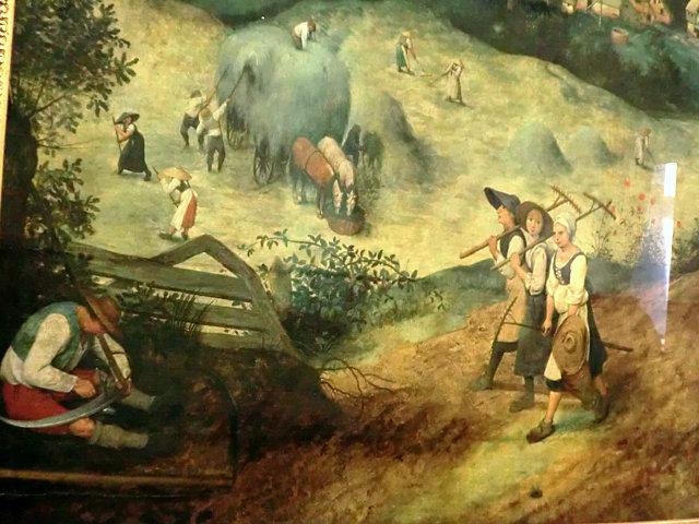 ブリューゲル「干し草の収穫」