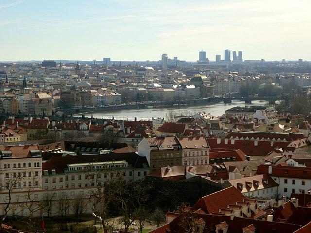 プラハ城からの眺め