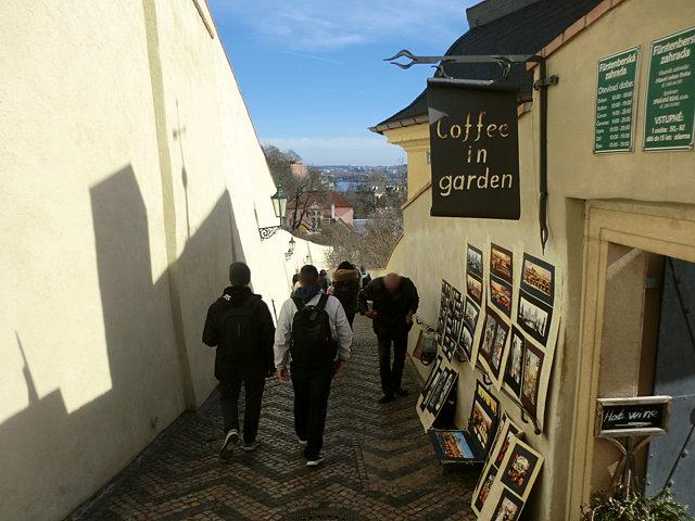 プラハ城からマーネス橋へ
