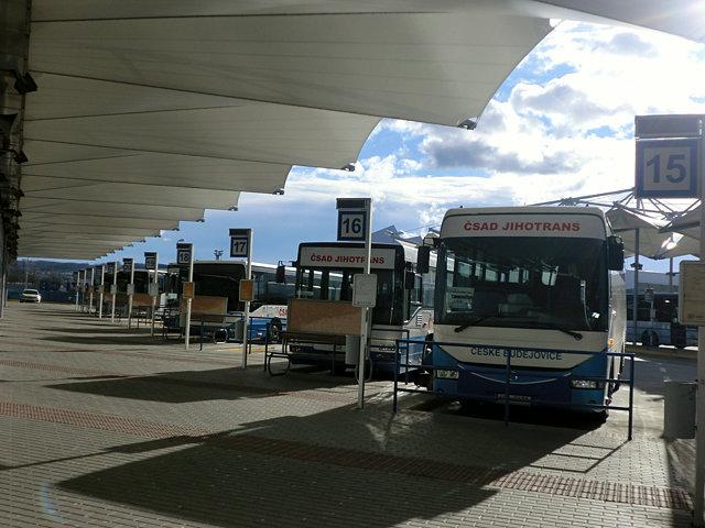 チェスケー・ブディェヨヴィツェのバスターミナル