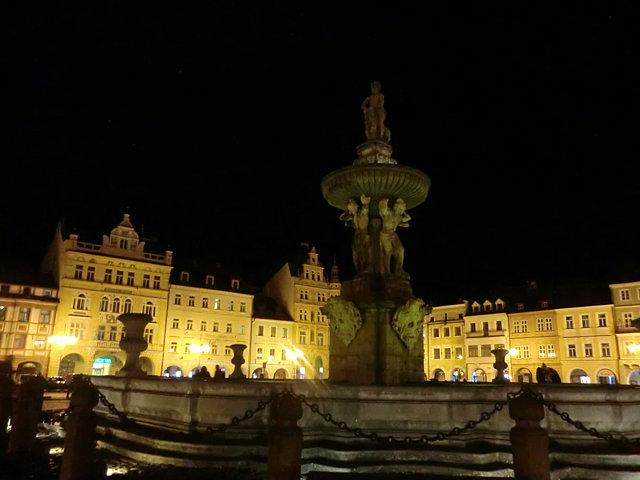 チェスケー・ブディェヨヴィツェの夜景