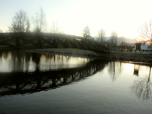 チェスケー・ブディェヨヴィツェのヴルタヴァ川