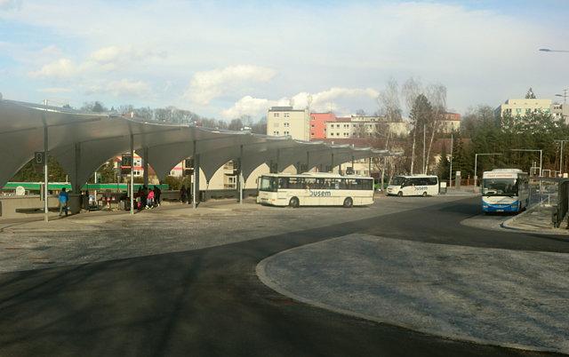チェスキー・クルムロフのバスターミナル