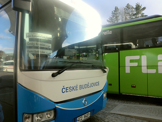 チェスキー・クルムロフのバス