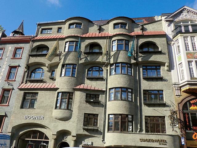 インスブルックのホテルSTAGE12外観
