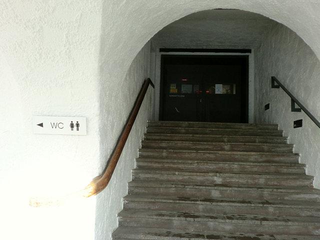 フンガーブルクのロープウェイ乗り場