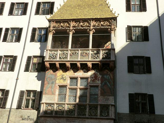 インスブルックの黄金の小屋根
