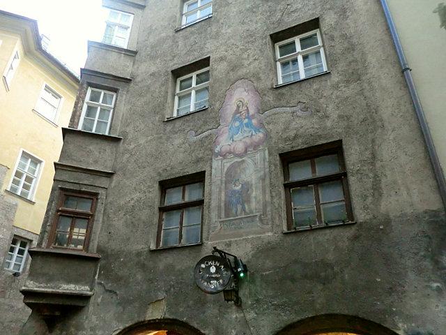 インスブルック壁画が美しい家