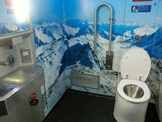 レイルジェットのトイレ