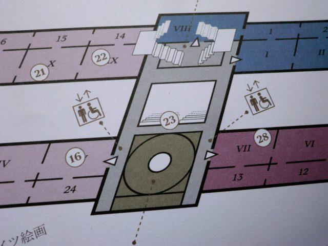 美術史美術館の館内図