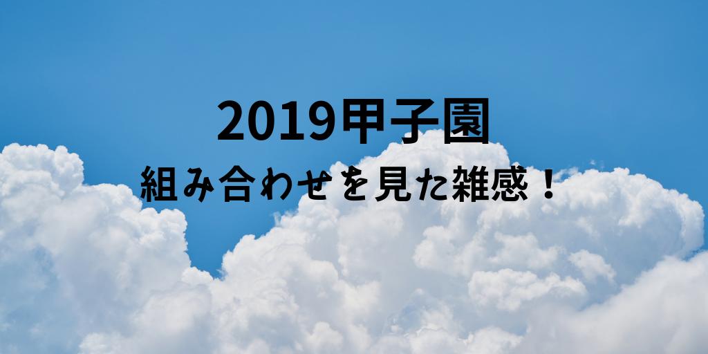 2019年夏甲子園展望