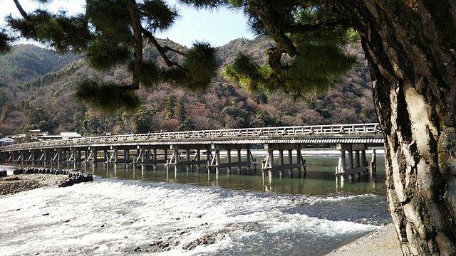 3月上旬の渡月橋