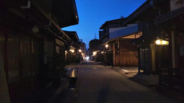 飛騨高山古い町並夜景