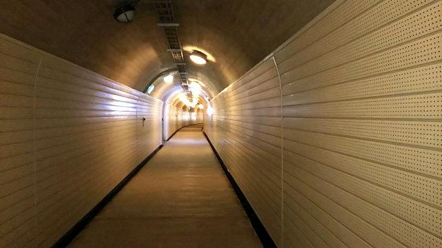 菅沼展望台行きトンネル